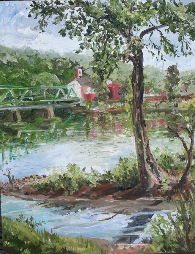 Bridge to New Hope 11x14 $400