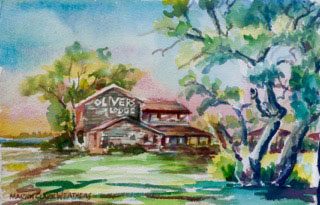 Oliver's-Lodge-7-x9--NFS-Collection-of-the-Artist